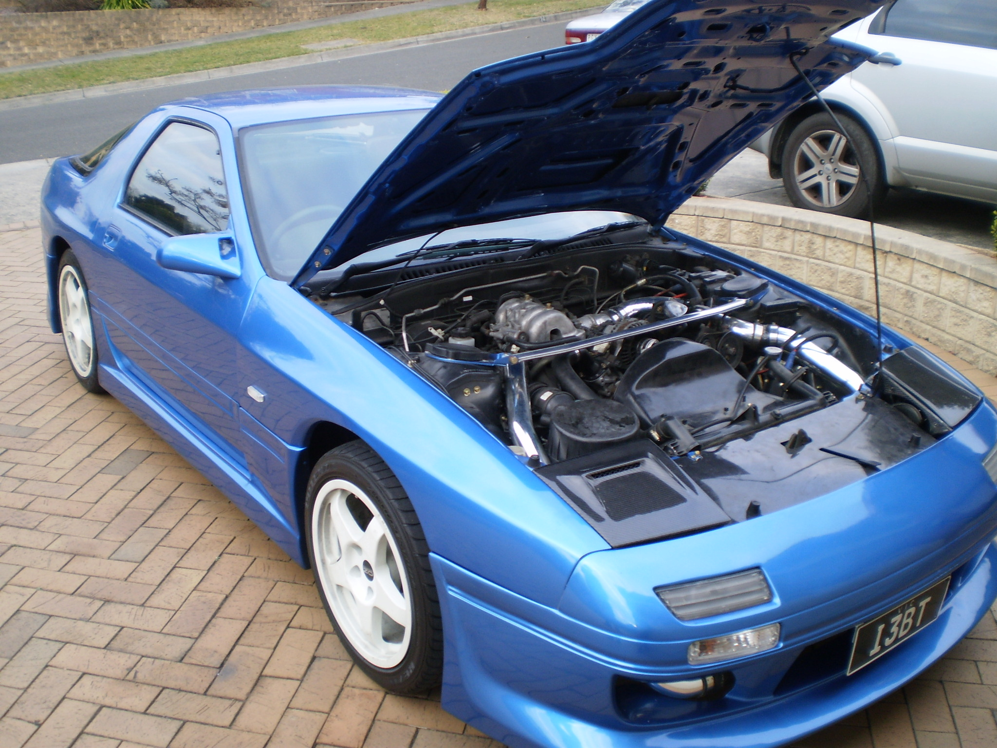 1989 Maxda Rx7 with larger intercooler